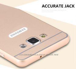 Металлический бампер для Samsung Galaxy A3 A300 с пластиковой панелью