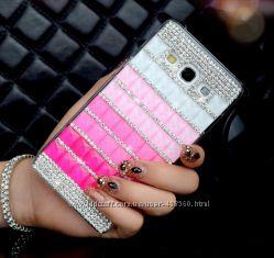 Чехлы для Samsung A3 A300, A5 A500, A7 A700 с кристаллами, чехол