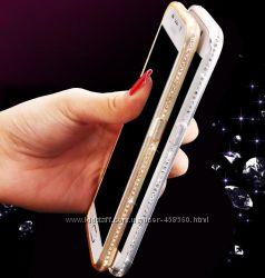 Чехлы силиконовые для Samsung Galaxy J5 J500 ободок со стразами, чехол