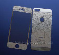 Переднее и заднее защитное 3D стекло для iPhone 5 5S SE