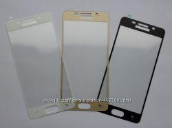Цветное защитное стекло для Samsung Galaxy A3 A310 2016