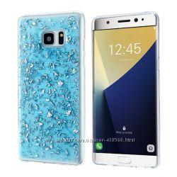 Силиконовый чехол с блестками для Samsung Galaxy Note 7 N930, чехлы