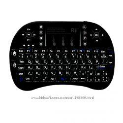Оригинальная беспроводная клавиатура Riitek Rii Mini i8 plus с подсветкой
