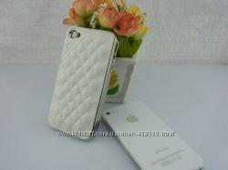 Чехлы iphone 4 4S luxury, кожаный чехол айфон case, кейс, накладка
