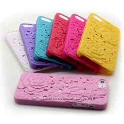 Чехлы для iphone 5 5S Flowers, чехол айфон с цветами, накладка, case