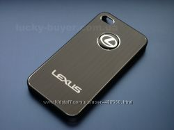 Чехлы iphone 4 4S Lexus, металлический чехол айфон Лексус, накладка