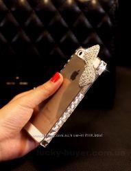 Чехол для iphone 5 5S кристальный бант, чехлы айфон 5