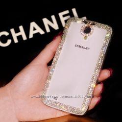 Чехол для Samsung Galaxy S4 I9500 со стразами, накладка Самсунг С4, чехлы