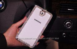 Чехол для Samsung Galaxy Note 2 и 3 со стразами, чехлы Самсунг Ноут 2 3