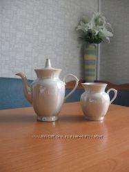 Новый перламутровый набор  чайник и кувшин для молока