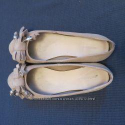 Замшевые балетки