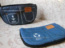 Стильный джинсовый пенал-кошелек