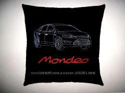Оригинальный подарок - Сувенирная автомобильная подушка с вышивкой
