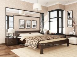 Кровать деревянная из Бука Рената