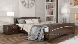 Кровать из дерева Венеция из натурального Бука двуспальная