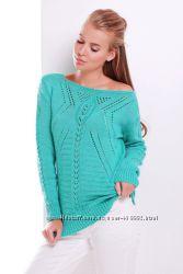 Ажурный вязаный свитер 44-50 размер 21