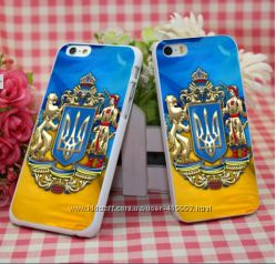 Чехол-бампер на iPhone 5, 5S флаг, герб Украины