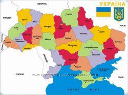 Вкладыши Карта Украины с подслоем флора, фауна укр
