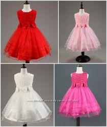 Камелия очаровательное пышное платье на торжество в розу с 3d эффектом