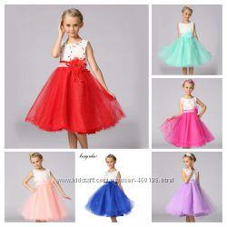 Элина Нарядное, пышное детское платье для девочки