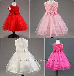 b28bc4aa9ed Камелия очаровательное пышное платье на торжество в розу с 3d эффектом