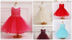 Амира нарядное пышное платье для девочки