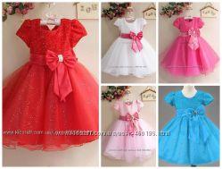 Ясмина Нарядное пышное яркое платье для девочки В наличии 4 цвета
