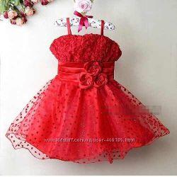 Обворажительное Пышное Красивое Нарядное платье для девочки