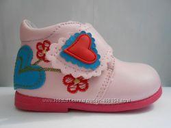 Красивые демисезонные ботиночки на девочку В&G 18 р-р, 11, 5см