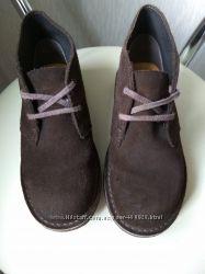 Кожаные ботинки Clarks новом сост, 19, 8см