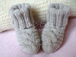 Вязаные носочки чистая шерсть
