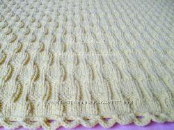 Хлопковое сливочное одеяльце