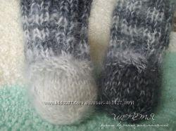 Пушистые носочки из мохера