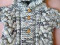 Кофта с капюшоном Пингвин - пушистая полушерсть с альпакой
