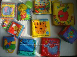 развивающие игрушки, мягкие книжки
