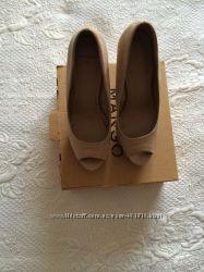 Mango туфли с открытым носком 37 размера