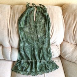 Victoria&acutes Secret шелковая ночная рубашка пеньюар ночнушка оригинал