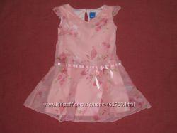 Шифоновое платье, 12мес, до 80см, Adams
