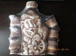 Глиняная бутылка для спиртного и 6 стопочек