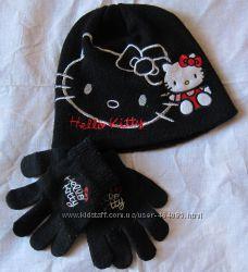 Шапка и перчатки Hello Kitty