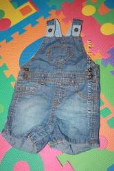 Шортики джинсовые комбинизончиком