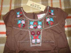 Платья GUESS для девочек, арт. 82150, коричневое, от 4 до 6 лет