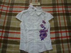 Блузка GUESS для девочек, арт. 82157, белая, на 6 лет