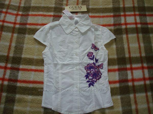 Блузка GUESS для девочек, белая, на 6 лет, арт. 82157