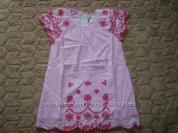 Платья GUESS для девочек арт. 82116, розовые, от 2 до 10 лет