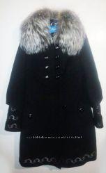 пальто мех Чернобурка