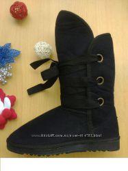 Угги  UGG Высокие на шнурках 3 цвета