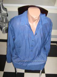 Женская рубашка SAVAGE синяя, р. 50
