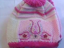 шапки демисезонные для девочек Agbo Польша распродажа