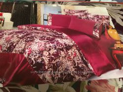 Постельный комплект шелковый сатиновый